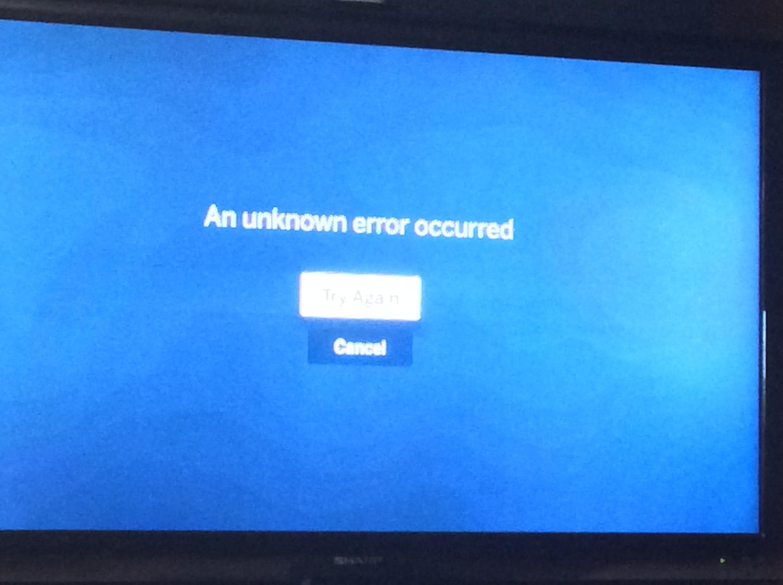 Apple TV ошибка