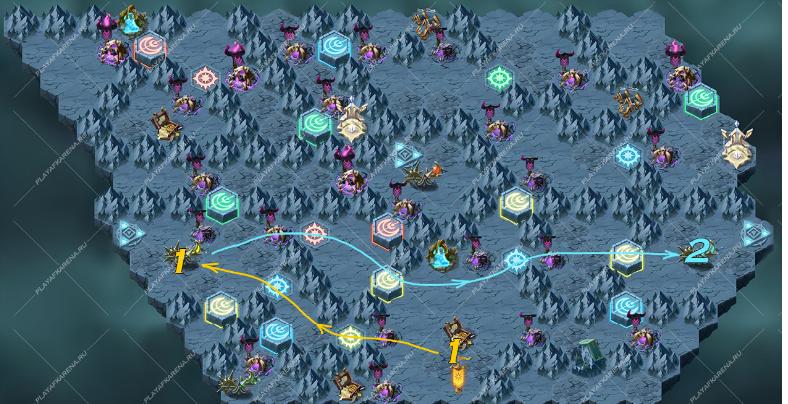 карта древние руины