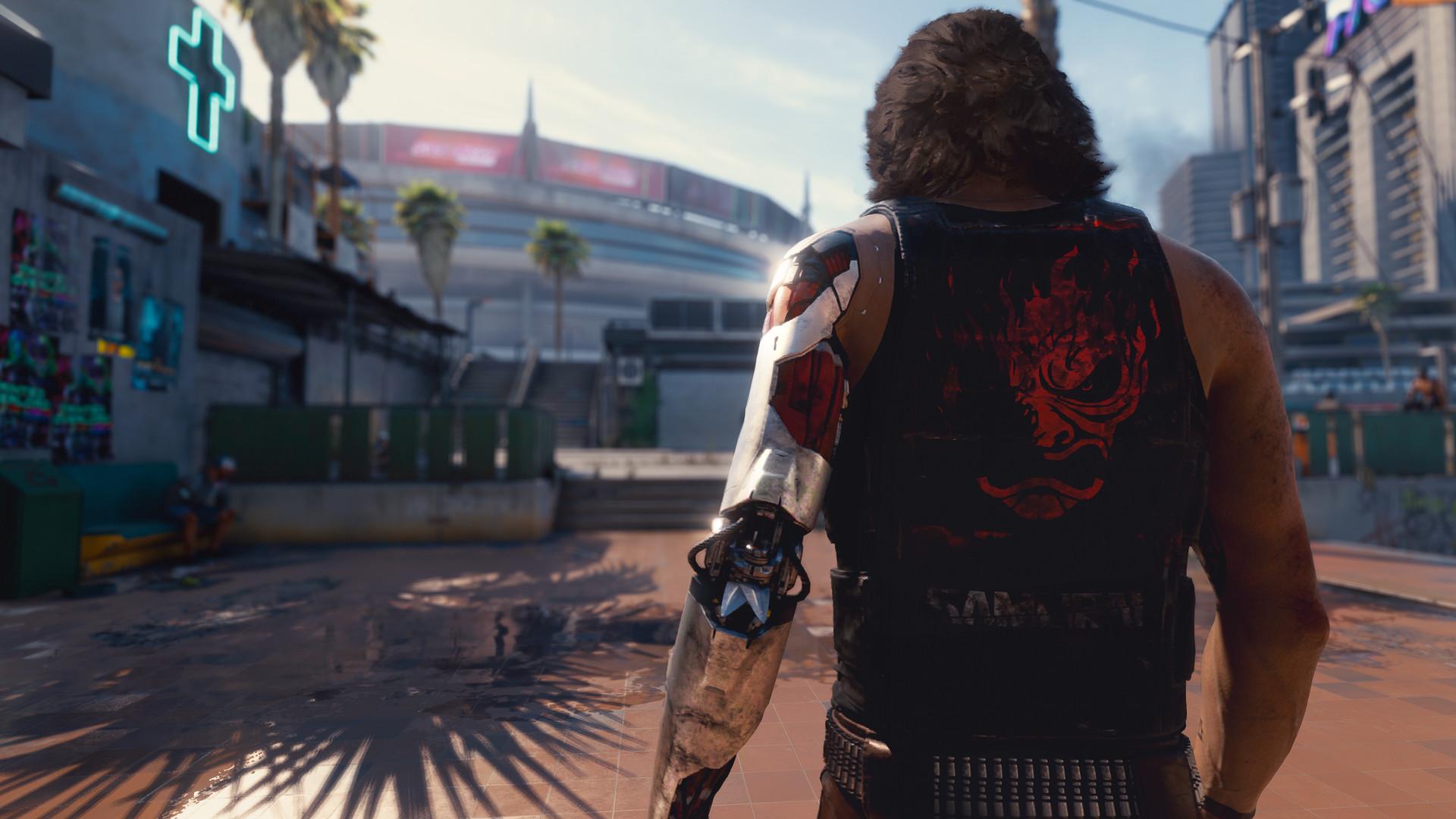 Скриншот из игры Cyberpunk 2077